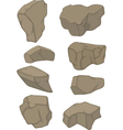 Stones set cartoon vector