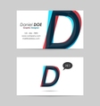 Business card template - letter d vector
