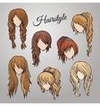 Different cartoon hairstyles vector