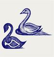 Swan sign vector