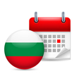 Icon of national day in bulgaria vector