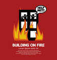 Building on fire vector
