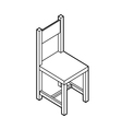 Isometric chair vector