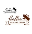 Always fresh coffee icon or label vector