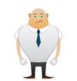 Bald sorrow office man vector