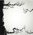 Black tree branches silhouette vector