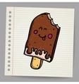 Doodle ice cream dessert style sketch vector