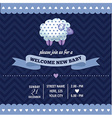 Baby shower invitation with sheep in retro style vector