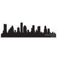 Houston texas skyline detailed silhouette vector