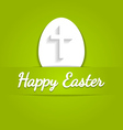 Happy easter eggs card with cross symbol over vector