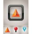 Gps navigation icon vector