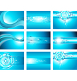 Site blue wave and arrows background collection vector