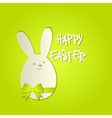 Easter bunny with a bow greeting card vector
