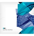 Modern futuristic techno abstract composition vector