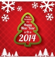 Merry christmas tree greeting card 2014 vector