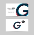 Business card template - letter g vector