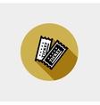 Vintage ticket icon vector