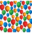 Colorful balloon background pattern vector