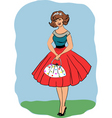 Retro 50's girl vector