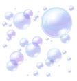 Blue bubbles background image vector