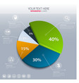 Pie chart - business statistics vector