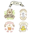 Hand-drawn badges vector