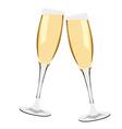 Champagne glasses vector