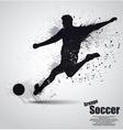 Grunge soccer player vector