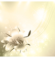 Golden floral holiday background vector