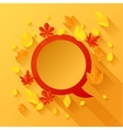 Background with autumn leaves in flat design style vector