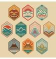 Mount badge set1color vector