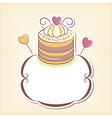 Cute cupcake design frame vector