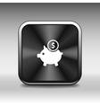Piggy icon bank economy coin money piggy account s vector