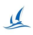 Sailing or yachting emblem vector