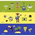 Brazil banner set vector