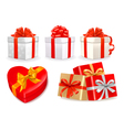 Gift boxes with bows vector