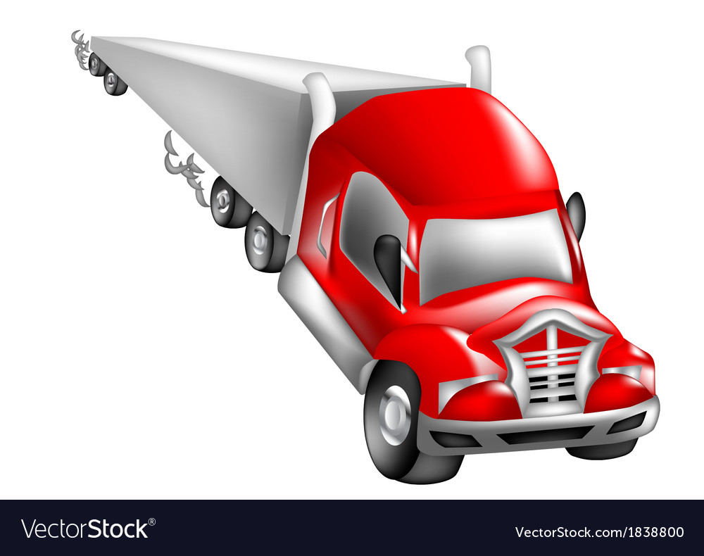 Abstract nonexistent truck vector | Price: 1 Credit (USD $1)