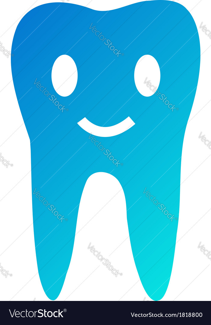 Happy tooth- logo for dentist vector | Price: 1 Credit (USD $1)