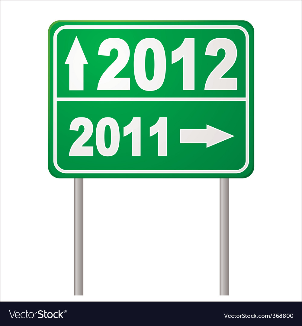 Road sign 2012 vector | Price: 1 Credit (USD $1)