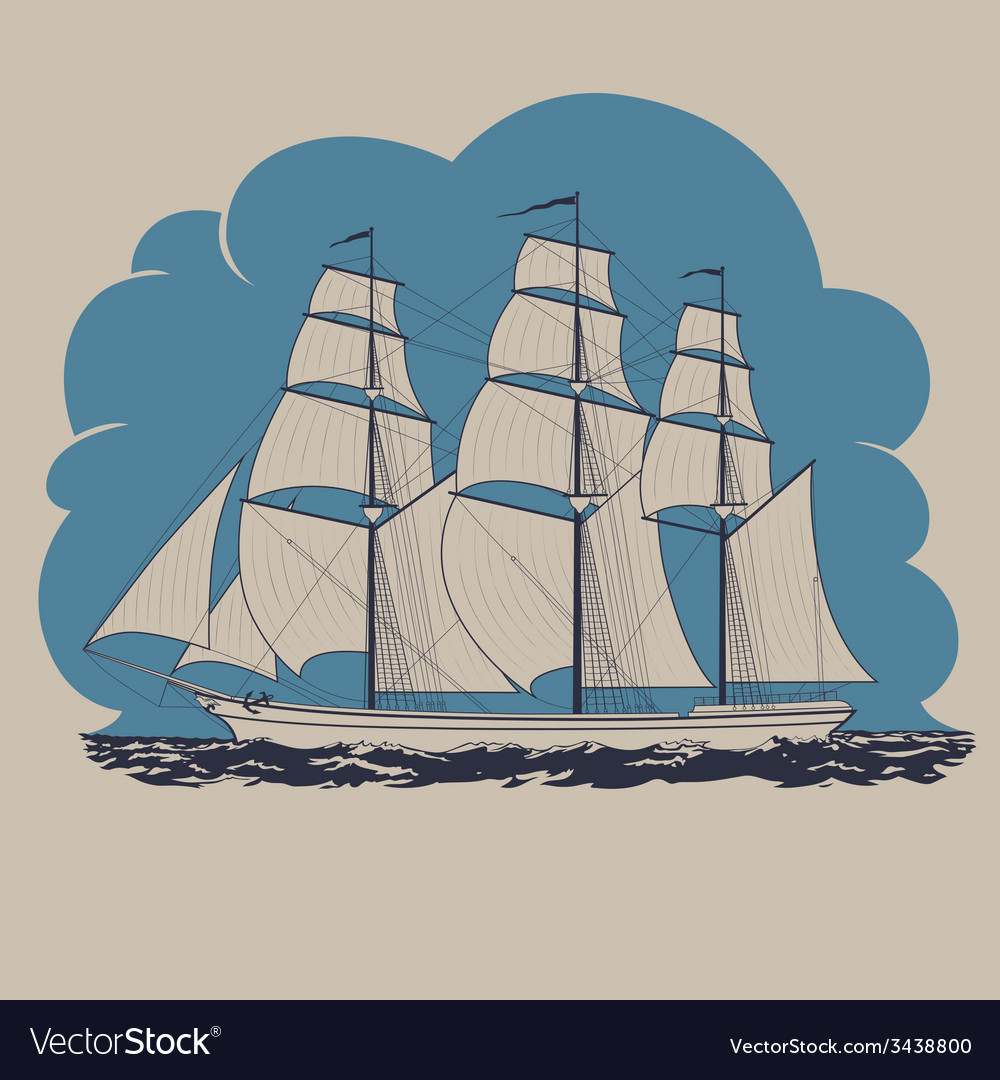 Schooner vector | Price: 1 Credit (USD $1)