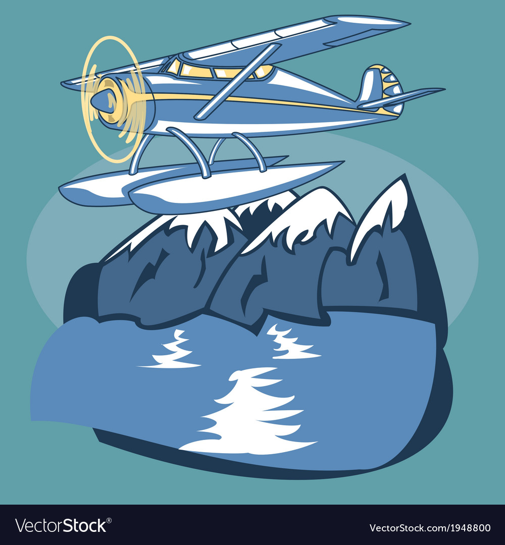 Sea plane vector | Price: 1 Credit (USD $1)