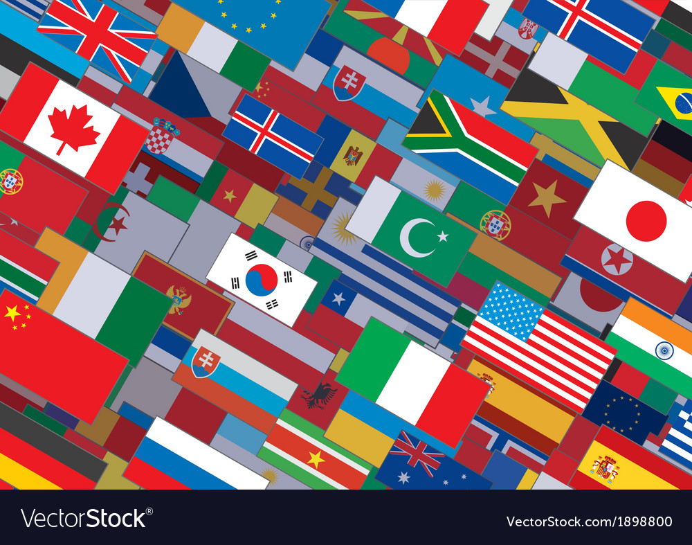 World flag background ready for your text  design vector | Price: 1 Credit (USD $1)