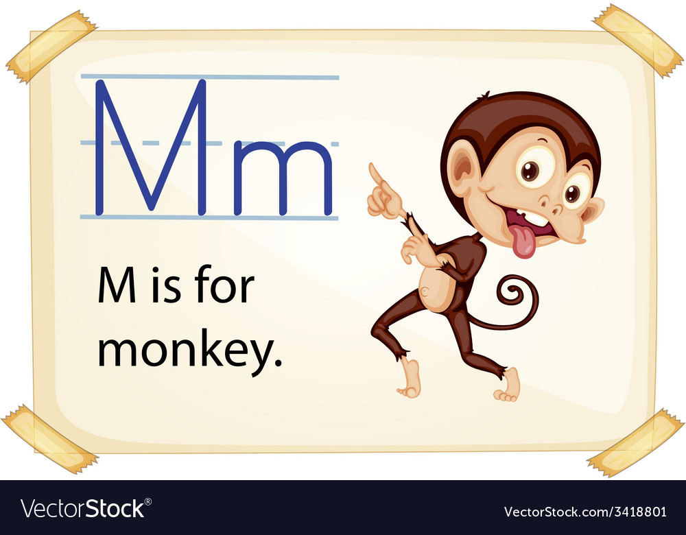 A letter m for monkey vector | Price: 1 Credit (USD $1)