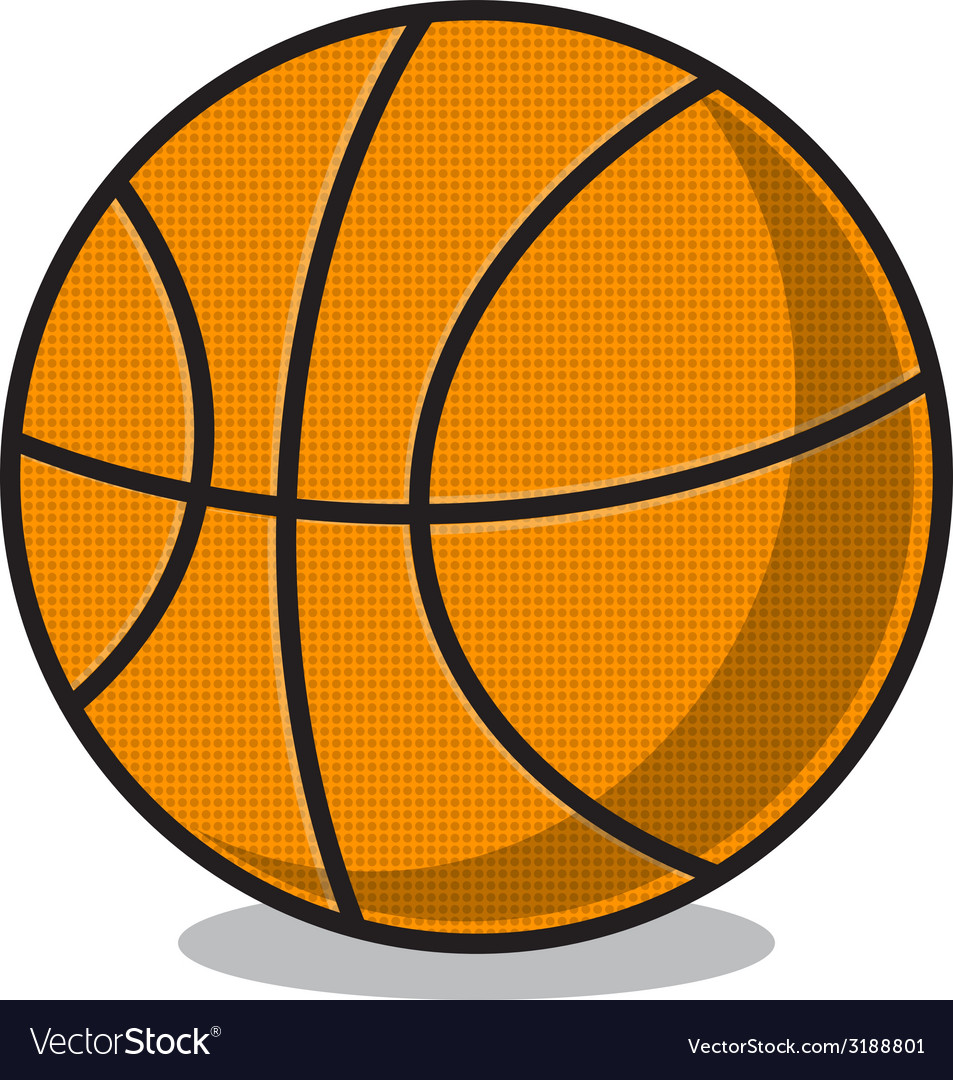Basketball ball isolated on white vector | Price: 1 Credit (USD $1)