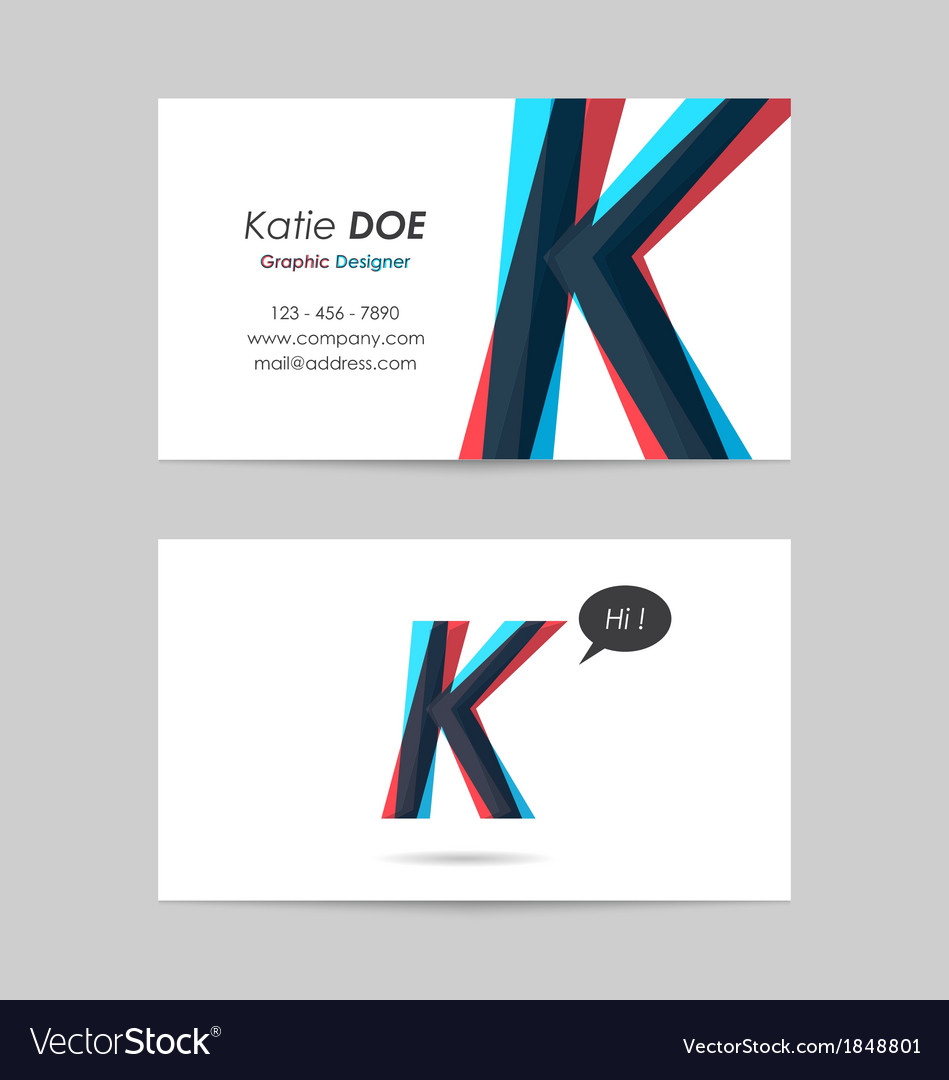 Business card template - letter k vector | Price: 1 Credit (USD $1)