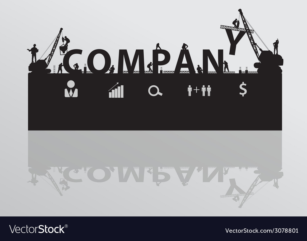 Construction site crane building company text vector | Price: 1 Credit (USD $1)