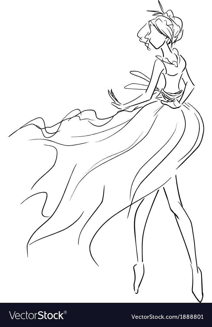 Dancing woman vector | Price: 1 Credit (USD $1)
