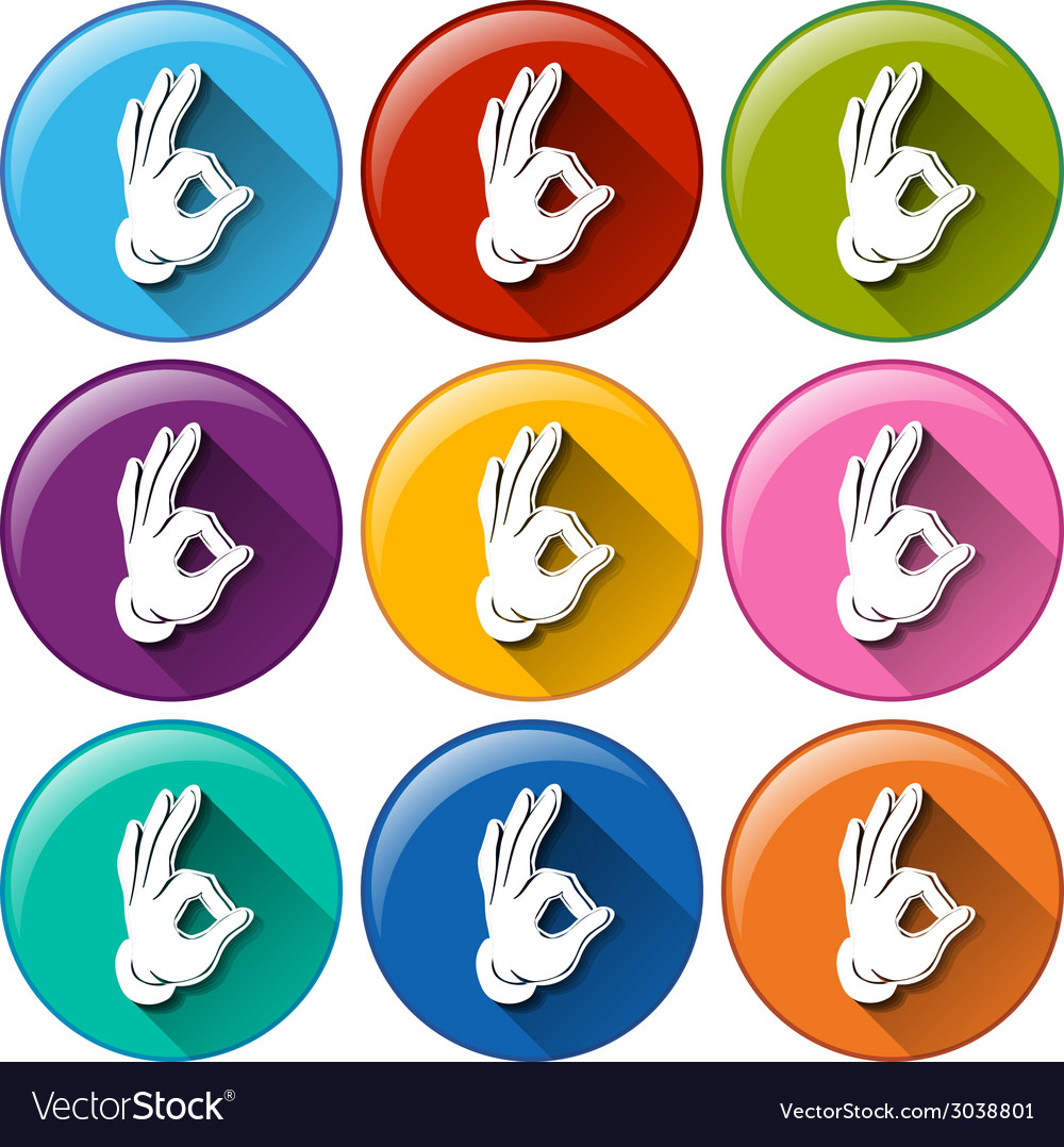 Hand icons vector | Price: 1 Credit (USD $1)