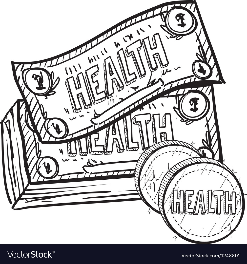 Health is wealth vector | Price: 1 Credit (USD $1)