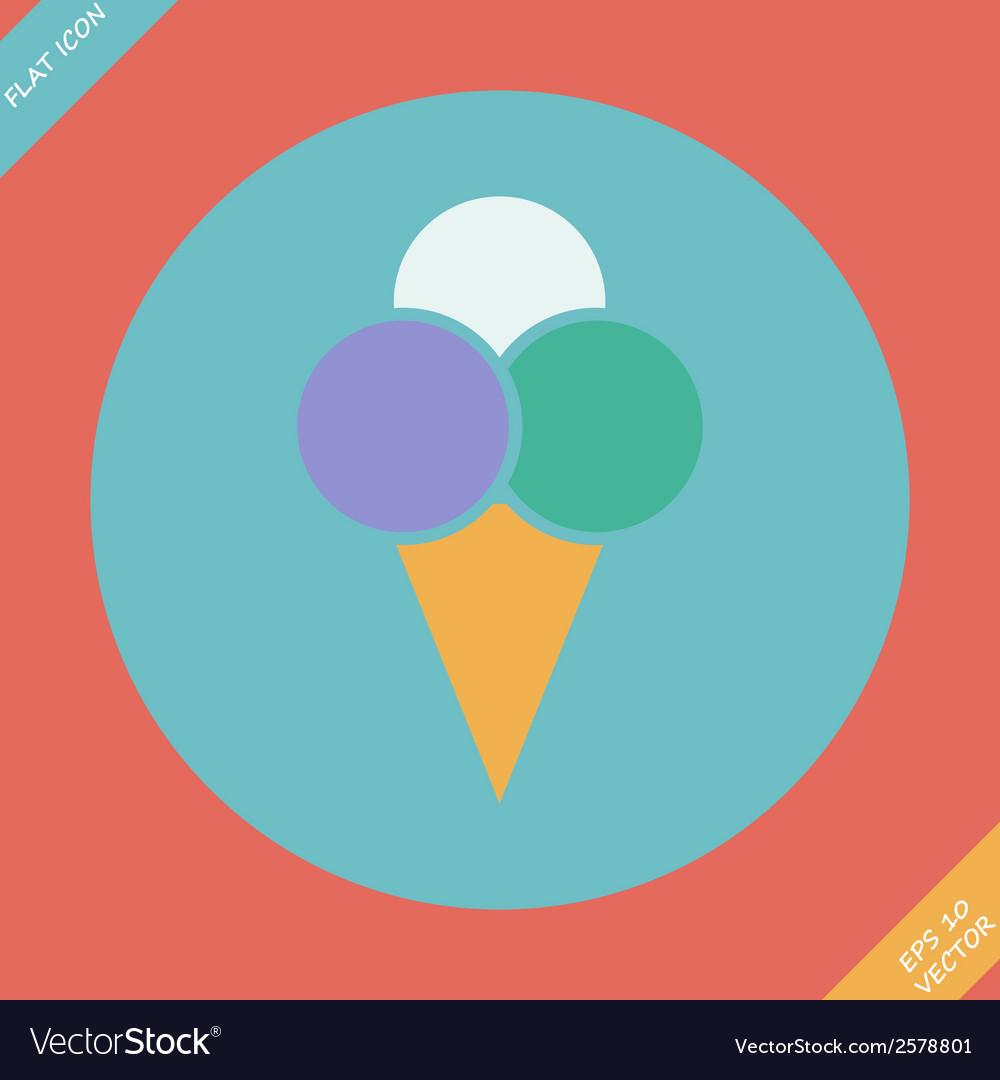 Ice cream icon -  flat design vector | Price: 1 Credit (USD $1)